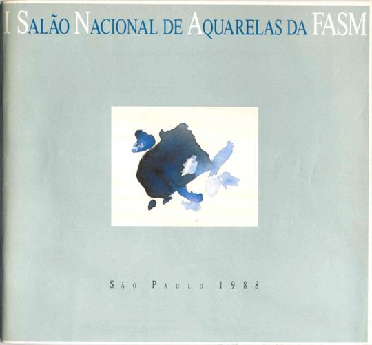 Capa do Catálogo do I Salão Nacional de Aquarelas